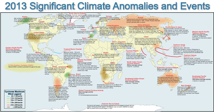 NOAA 2013 Global Significant Climate Events Map