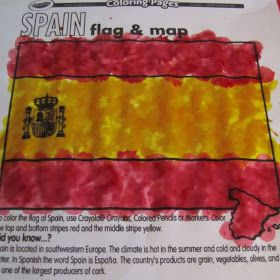 Spanish Flag coloring page