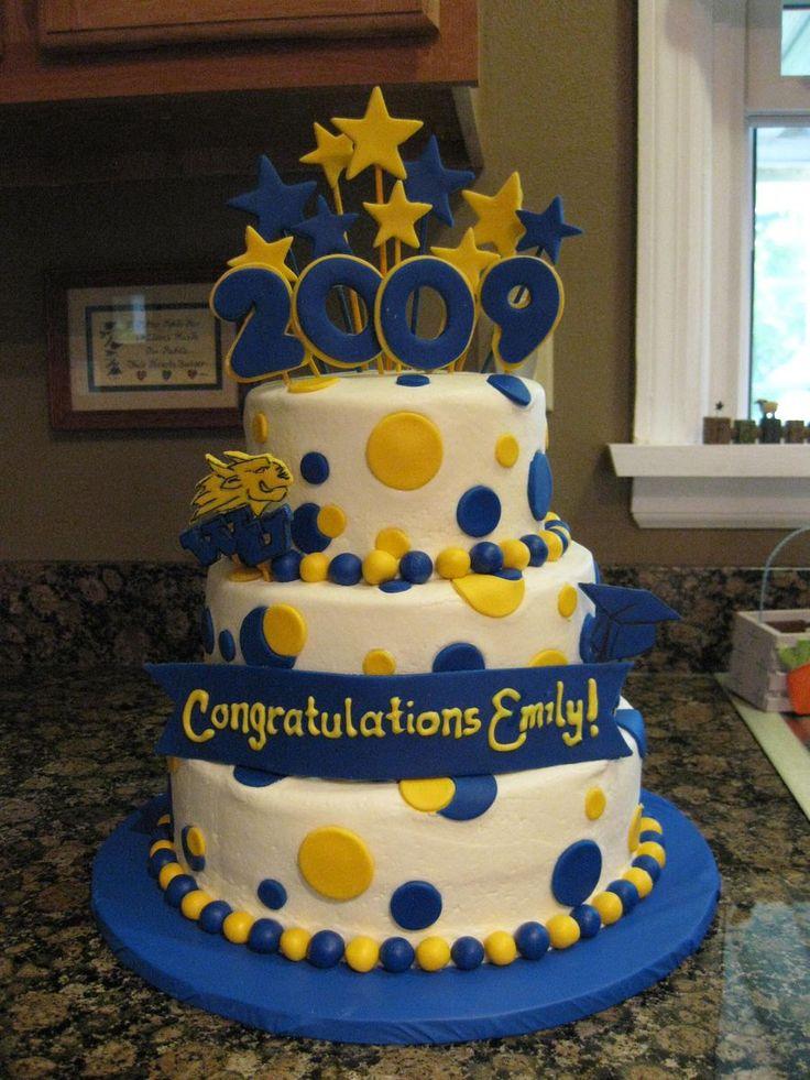 Polka Dot Graduation Cake