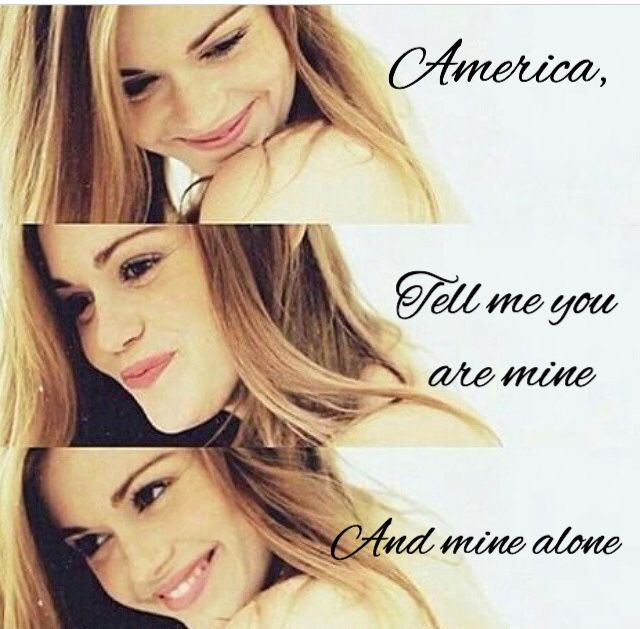 """""""America, tell me you are mine and mine alone..."""""""