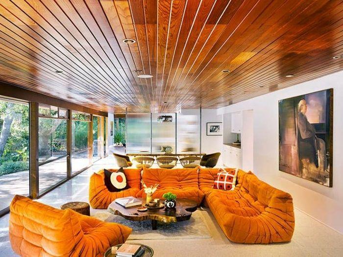 Les 25 meilleures id es de la cat gorie plafonds en bois sur pinterest plan - Canape imitation togo ...