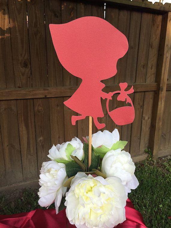 2 Little Red Riding Hood Silhouette Centerpiece by whimsyrosy
