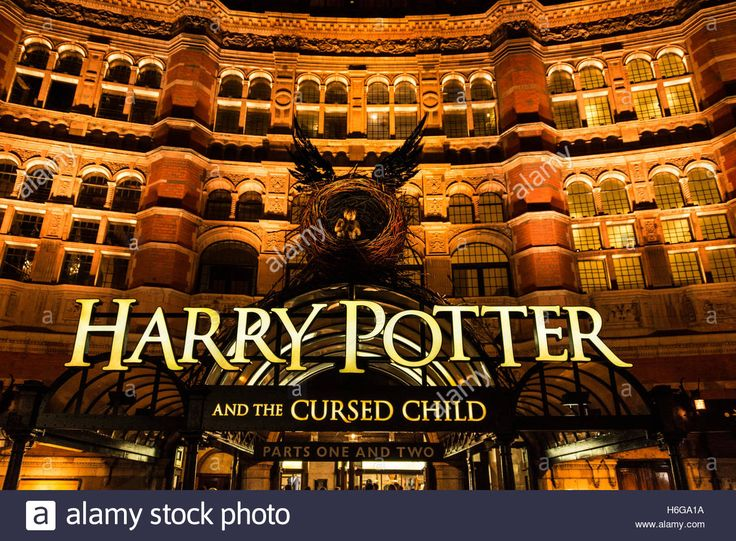 Harry Potter And The Cursed Child at the Palace Theatre London. Stock Photo