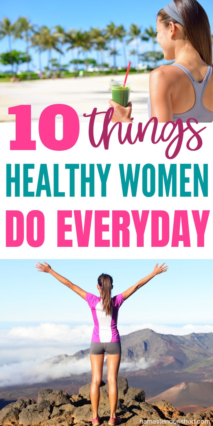 10 Dinge, die gesunde Frauen jeden Tag tun