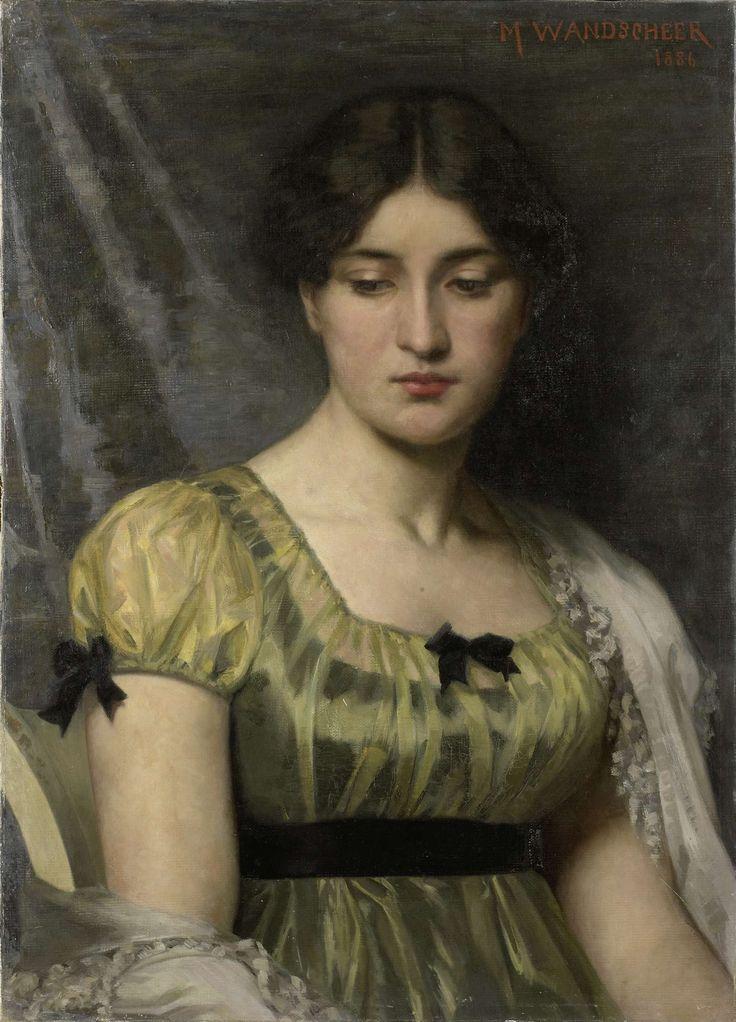Portrait of a woman, by Marie Wandscheer, 1886 (Rijksmuseum, the Netherlands).