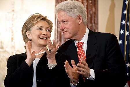 Hillary and President Bill Clinton
