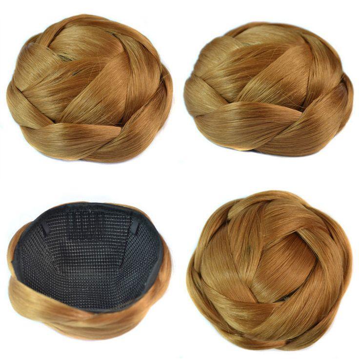 Q85   Synthetic chignon hair pieces bun color of 26# hair extension chignon