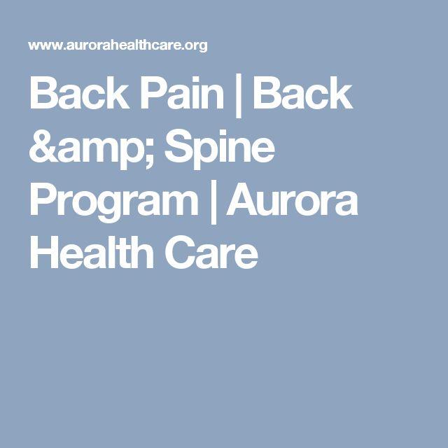 Back Pain | Back & Spine Program | Aurora Health Care