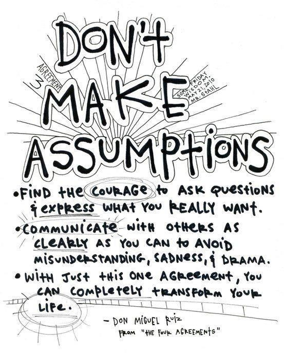 Quotes About Assuming 6