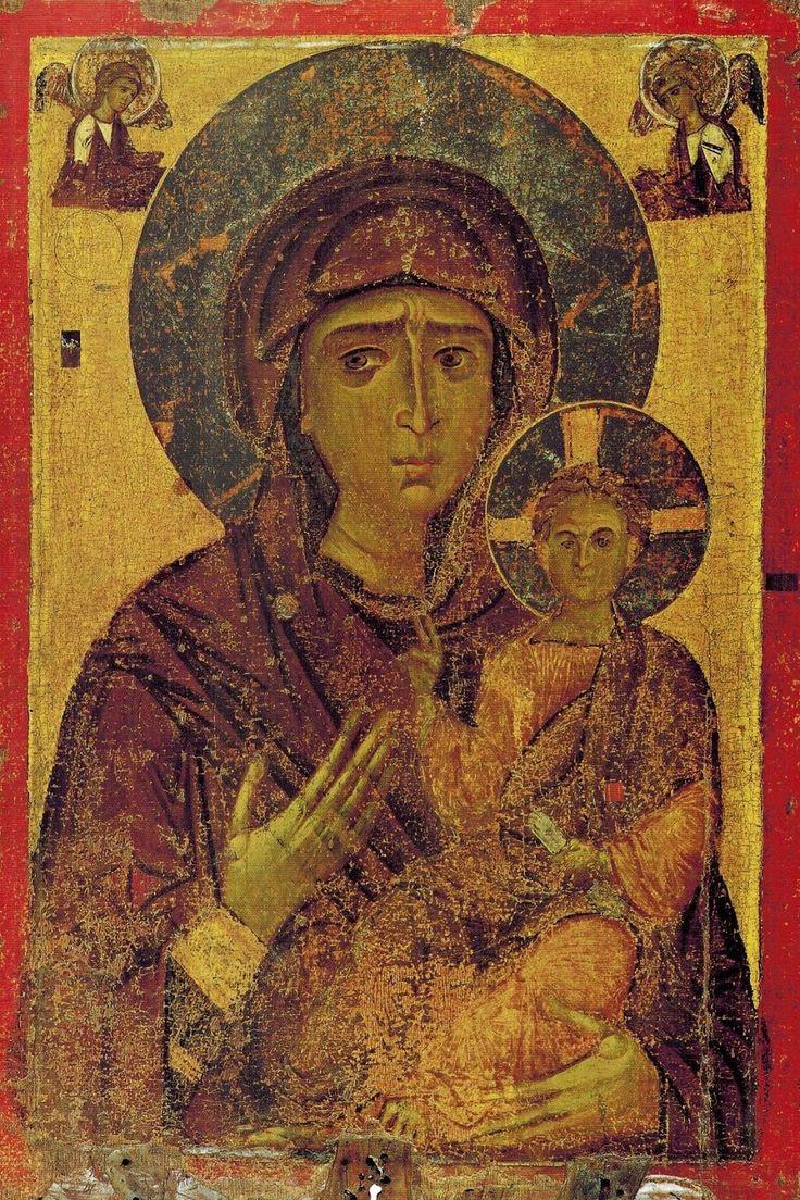 AVE MARIA -Icône byzantine Hodighitria, 13° s., Kastoria, Macédoine