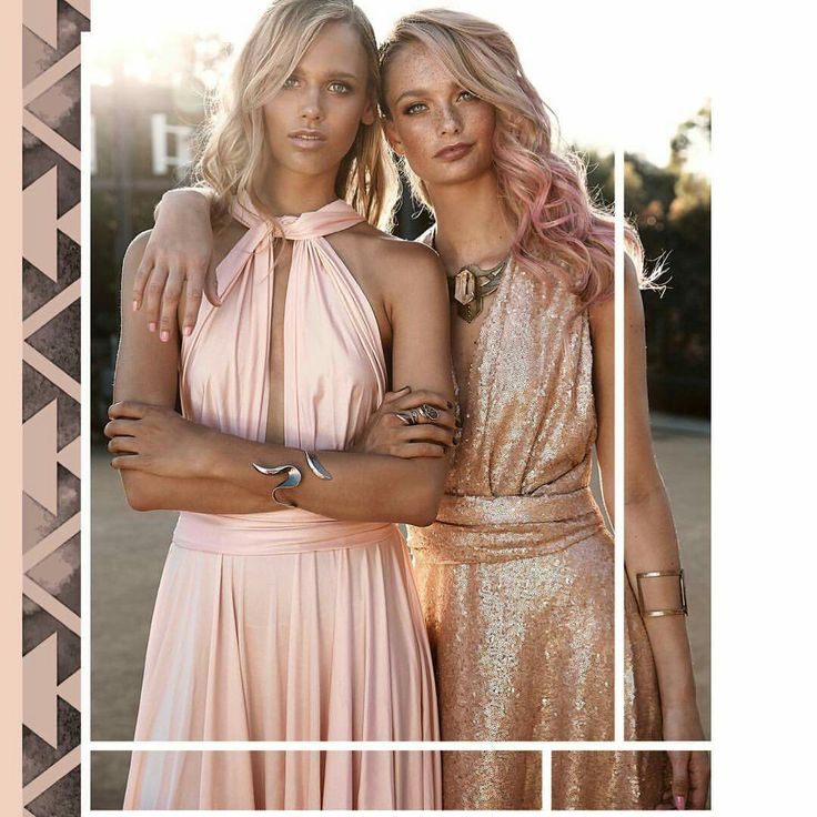 Gorgeous Goddess dresses. Available at Just Bridesmaids and Formals