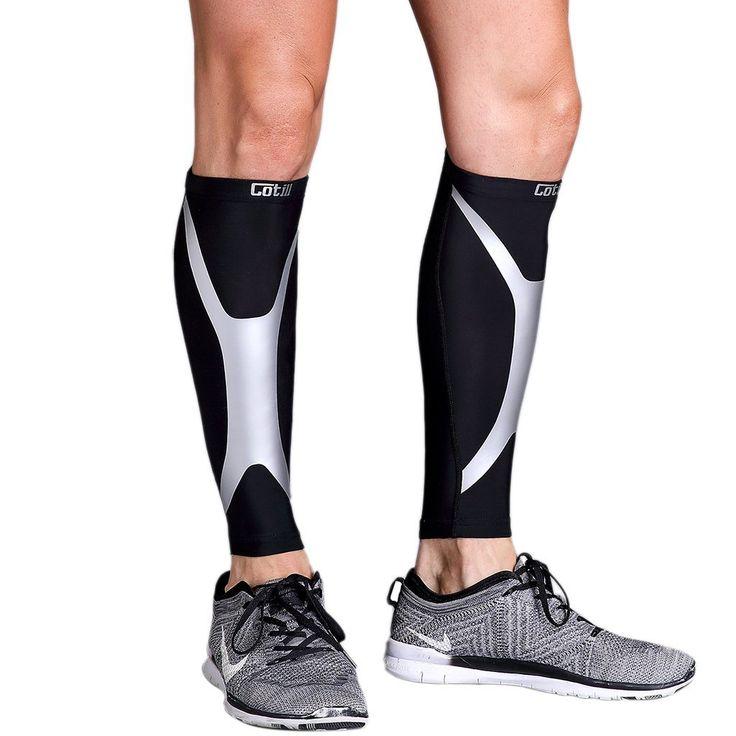 Calf Compression Sleeve - Cotill Energy Web - Footless Leg Compression Socks for Women Men - Calf Guard Sleeves for Shin Splints Running, Cycling, Basketball, Travel, Circulation