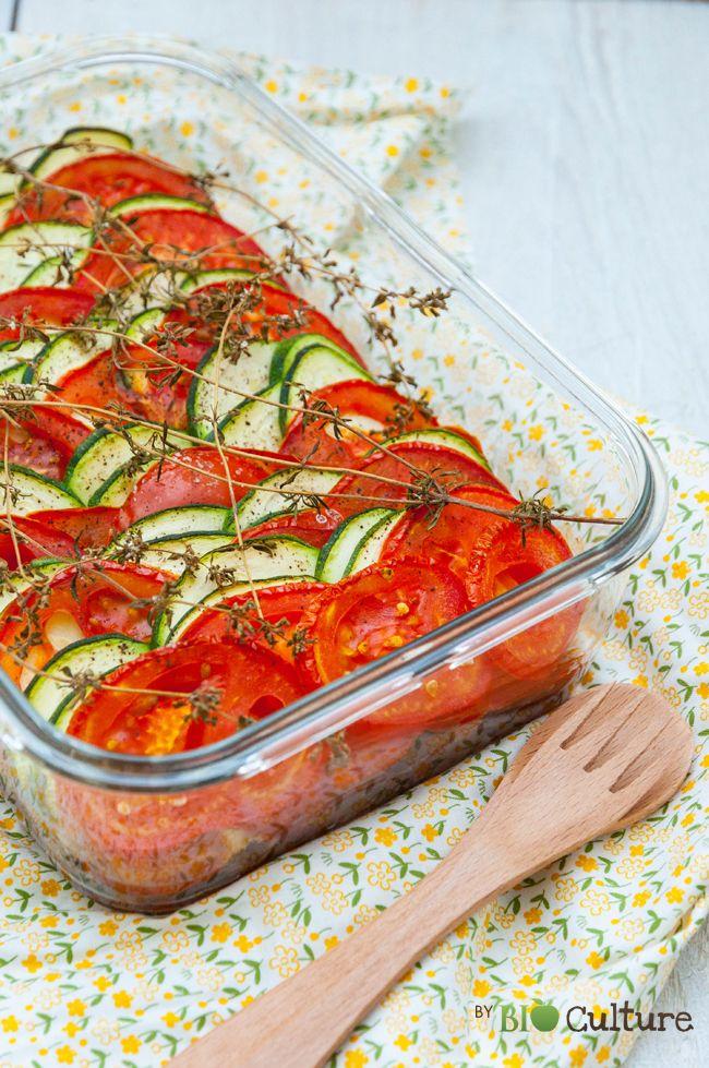 Tian tomates et courgettes #recette #tian #tomate #facile