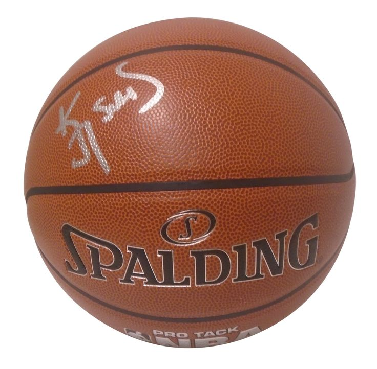 Kevin Johnson Autographed Spalding NBA Indoor / Outdoor Basketball, Proof Photo