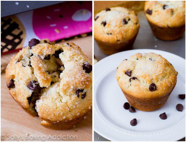 bakery style chocolate chip muffins muffins jen s muffins stuffed ...