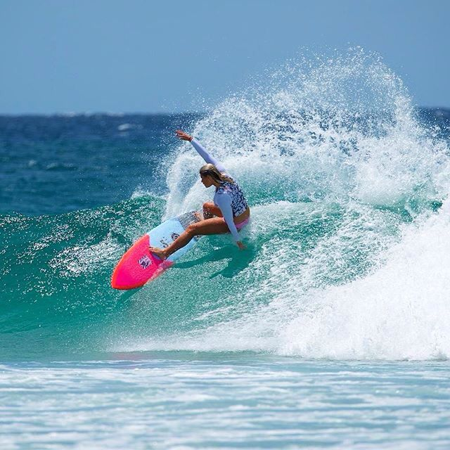 Pro surfer Holly Coffey from Australia loves wearing her Keeni vest, keeps her focus on her sport not her bikini mishaps!