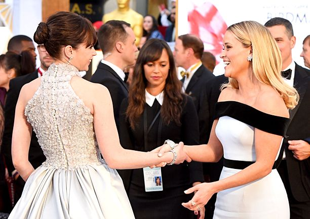 Felicity Jones and Reese Witherspoon #Oscars