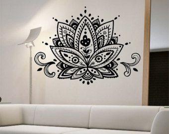 Mandala Wall Decal Flower namaste Vinyl Sticker by StateOfTheWall