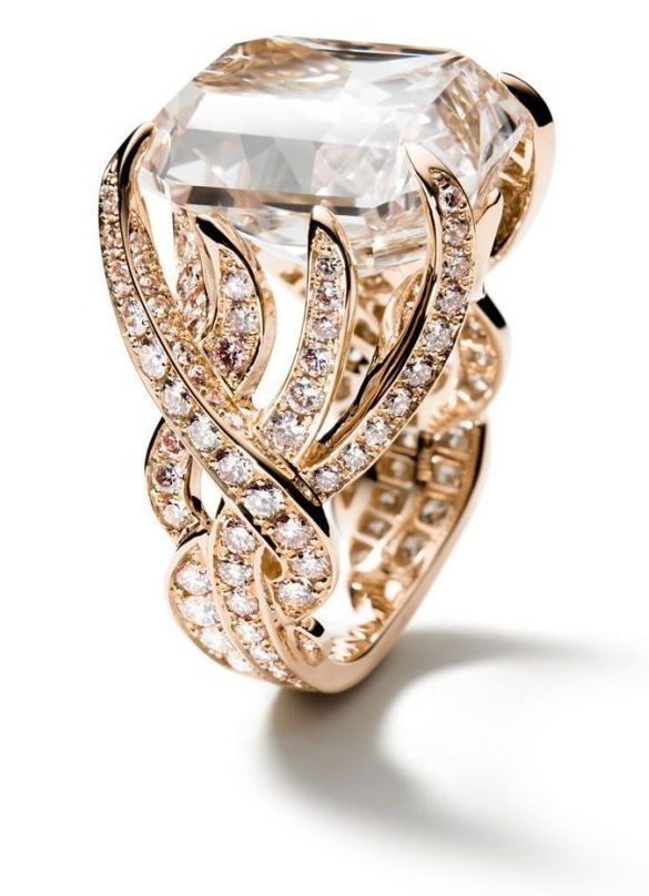 ☆☆: 18Kt Pink, Pink Gold, Diamonds Rings, Gold Rings, Jewelry, Engagement Ring, Jewels, Pink Diamonds, Brown Pink