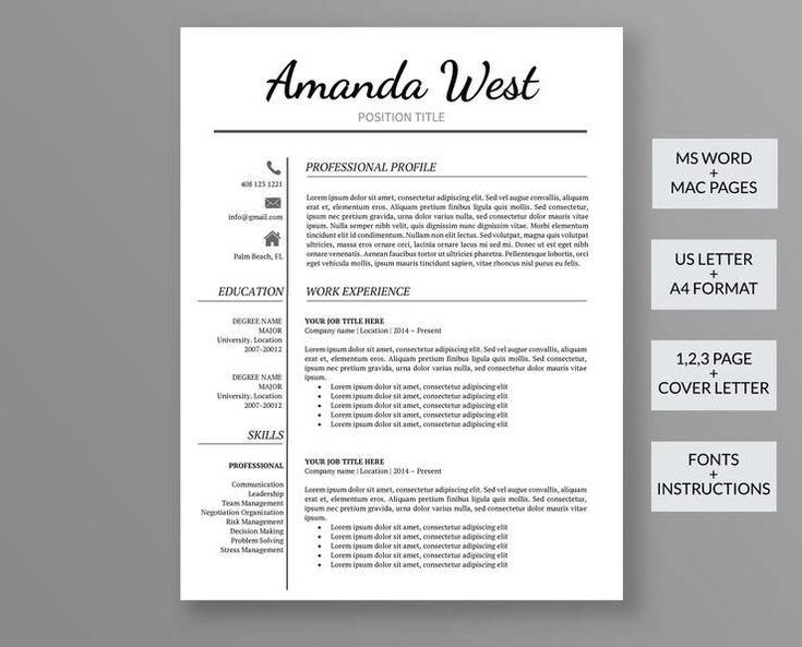 Creative resume template amanda west outperforming