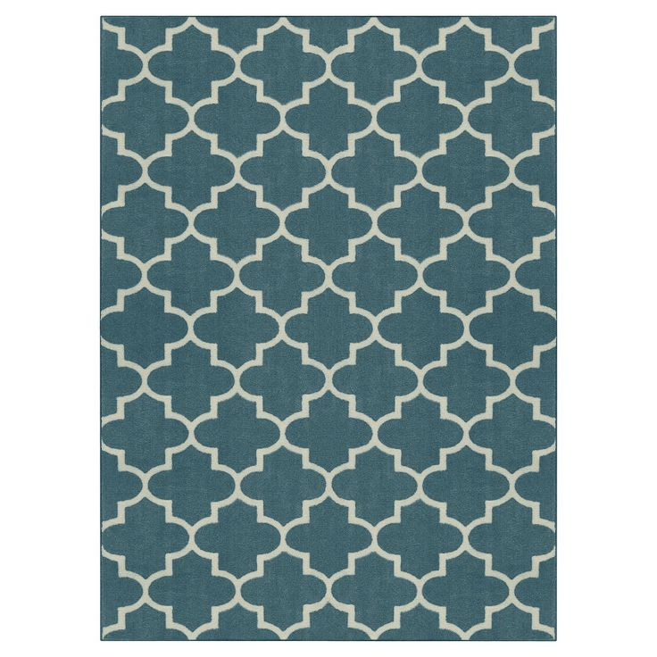 Take your space from tired to tasteful with the Threshold Fretwork Rug. Pick soft, neutral hues or bold colors for an old space or flooring that just needs a throw rug to freshen it up. The simple fretwork styling on this indoor rug adds a nice pattern to your room, but won't interrupt or distract from your current décor. The nylon rug resists stains and can be spot cleaned. Regular vacuuming will help maintain its luster. Pick the rug size best suited for your space and love the...
