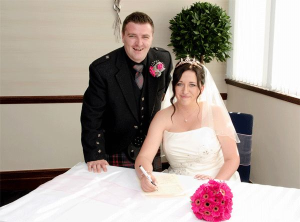 Online wedding first for Scotland when couple weds