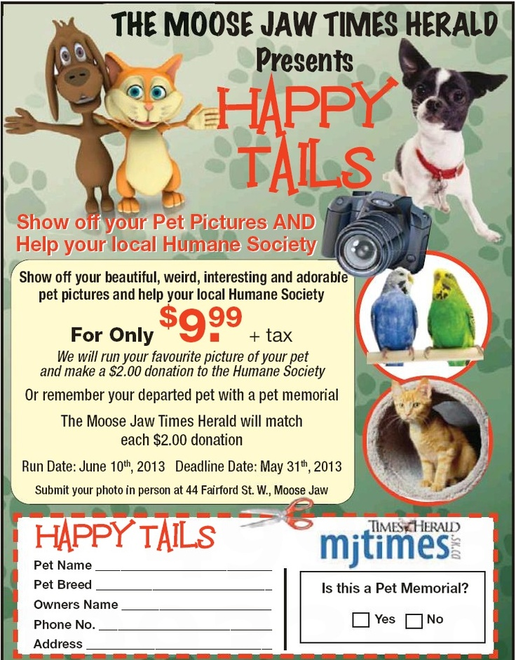 Cute, Funny, Silly, Outrageous.....any or all of the above are welcome!! Let's show our support for MJ Humane Society and adoration for our furry little family members! MJ Times Herald will match each donation! So hurry, we only have until May 31st for entry!