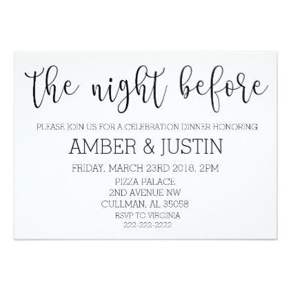 The Night Before | Invitation - script gifts template templates diy customize personalize special