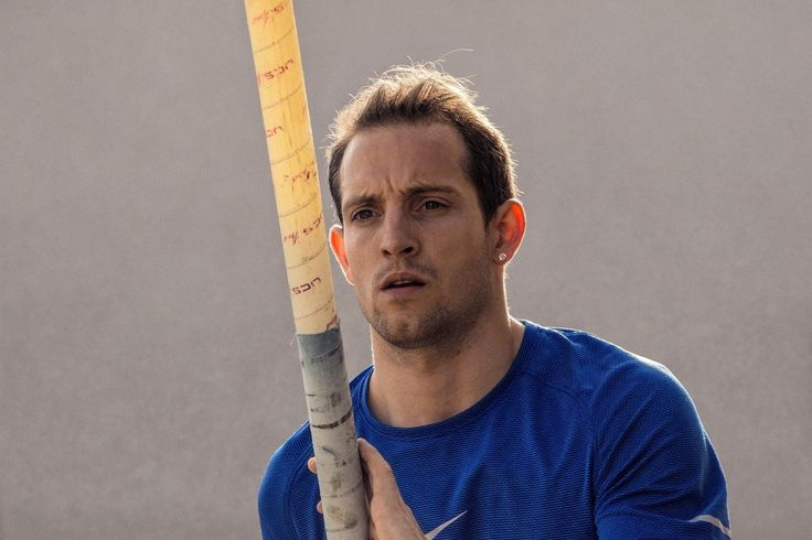 Renaud Lavillenie has the hollow cheeks of a man who doesn't weigh an ounce more than he needs. He puffs them gently before each vault attempt, as if the extra breath could make him lighter, as if the little air could lift him higher. Then he takes the end of the pole in his hands, raises it high, rocks on his heels and runs.
