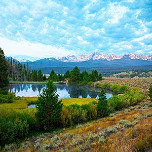 Sawtooth Mountains, Idaho, photo from Sunset Magazine