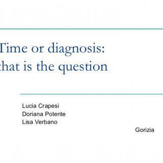 Time or diagnosis: that is the question Lucia Crapesi Doriana Potente Lisa Verbano Gorizia   Le criticità  Popolazione geriatrica  Malattie croniche  A. http://slidehot.com/resources/time-or-diagnosis-that-is-the-question-lucia-crapesi.63040/