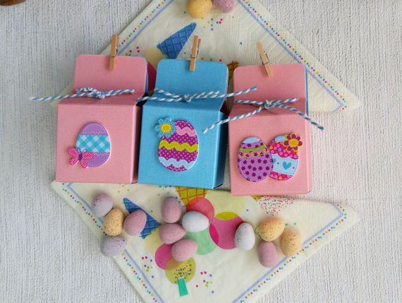 27 best images about all things etsy easter on pinterest 6 easter party gift boxes pink and blue gift boxes childrens party favours easter egg favour favour boxes easter egg mini gift boxes negle Choice Image
