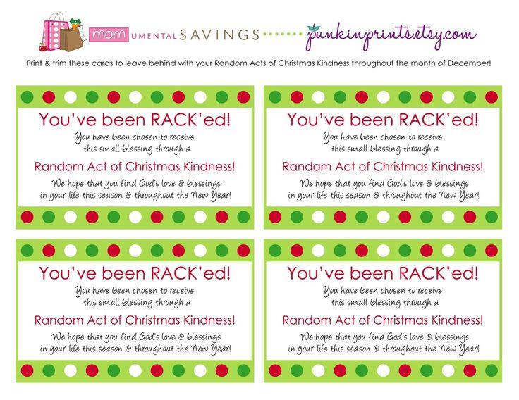 Momumental Savings Random Acts Of Christmas Kindness Random Acts Of Kindness Random Act Acting
