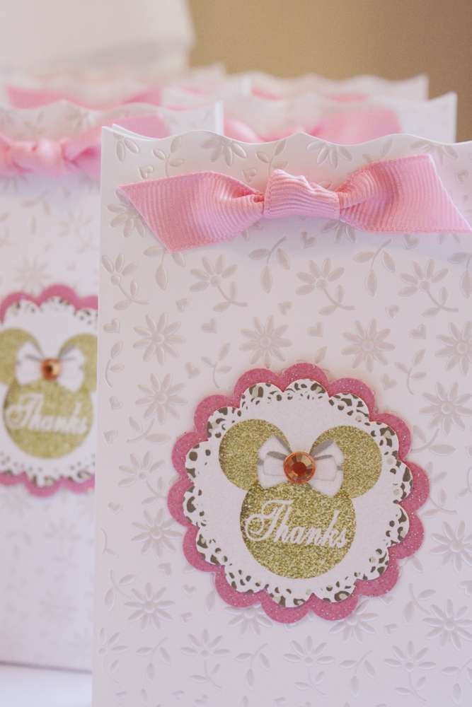 Sophisticated Sweet Minnie Birthday! | CatchMyParty.com