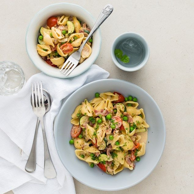 Carbonara is a family favourite and we've made it much healthier by packing it with loads of fresh veggies!