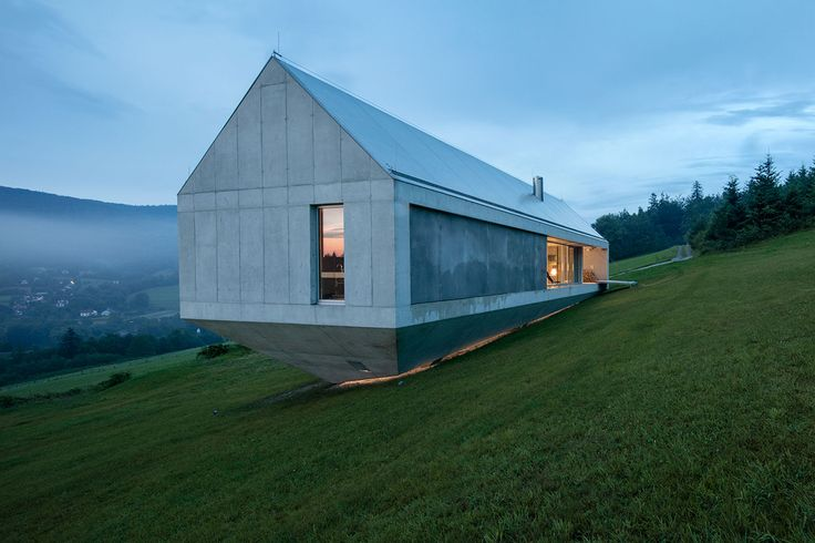 Ark-style home by Robert Konieczny -- KWK Promes, near the village of Brenna in southern Poland. Photo by Olo Studio.