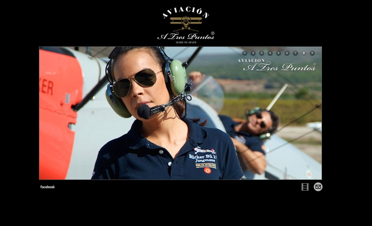 Diseño de la página web de la firma de ropa 'A Tres Puntos Aviación'