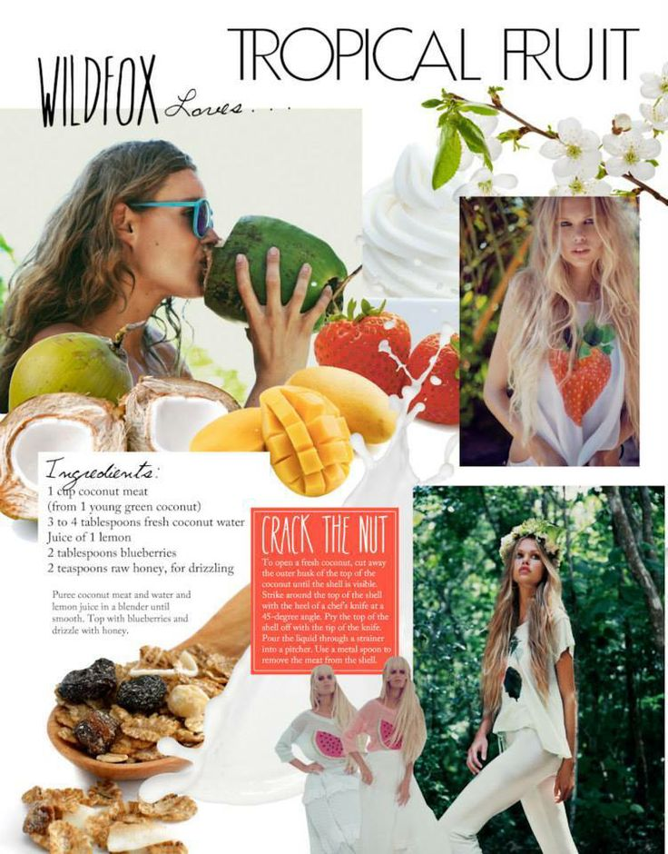 WILDFOX Cure for the Monday Blues: Fresh Smoothies. Try your own detoxing mix or make this coconut Wildfox recipe:  1 cup coconut meat 3-4 tablespoons fresh coconut water juice of 1 lemon blend until smooth top with 2 tablespoons blueberries drizzle with 2 teaspoons honey #wildfox #wildfoxuk