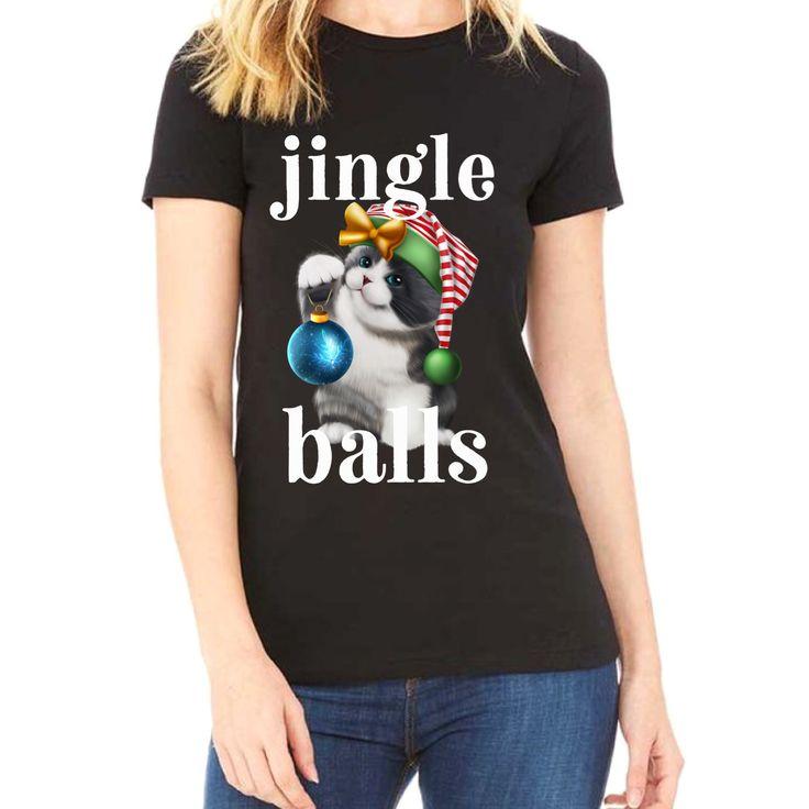 Jingle balls cat shirt unisex crewneck tee christmas