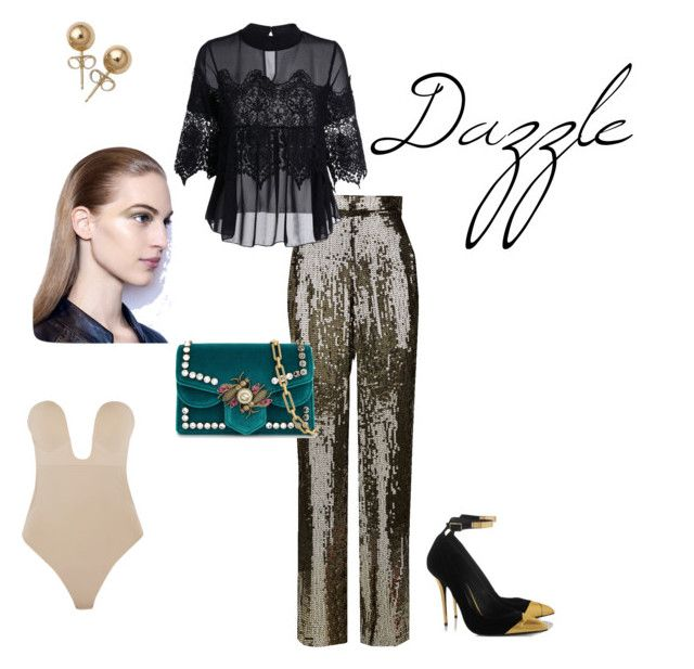 dazzle by nita-b-sk on Polyvore featuring Alice + Olivia, Fashion Forms, Gucci and Bling Jewelry