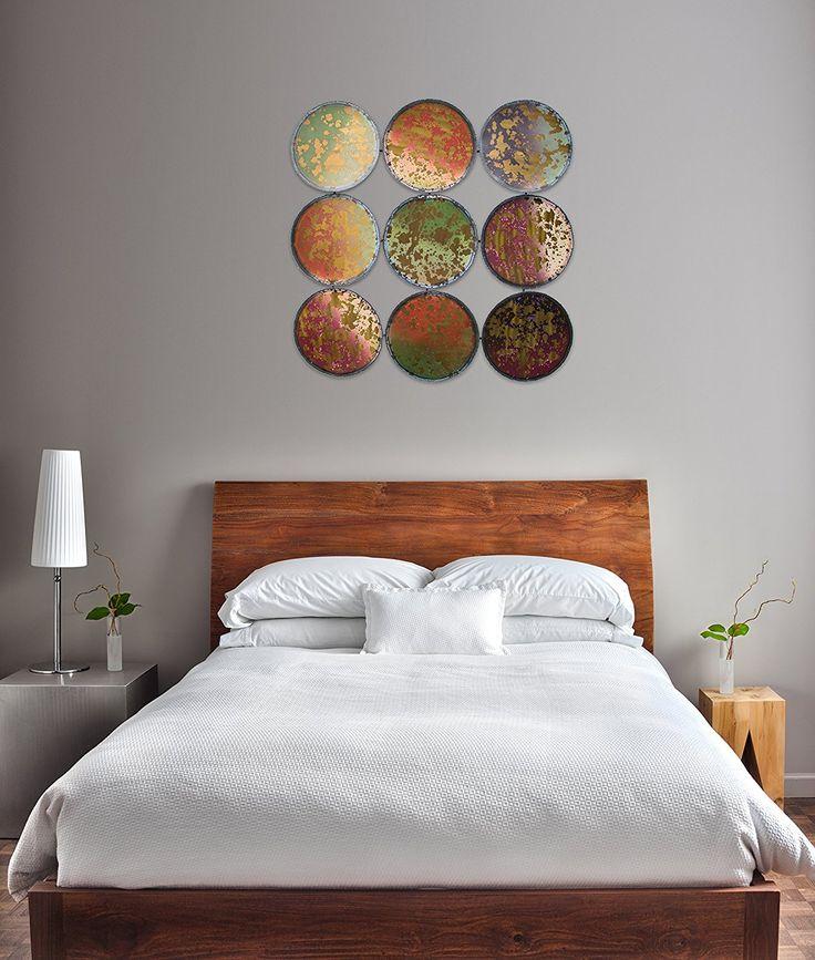 Stravagante scultura da parete in metallo KunstLoft® 'Specchio macchiato' 90x90x2cm | Decorazione parete XXL design fatta a mano | Cerchi metallo ossidato | Quadro di metallo lussuoso plastico murale: Amazon.it: Casa e cucina