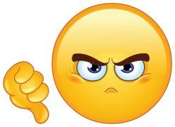dislike emoticon sticker