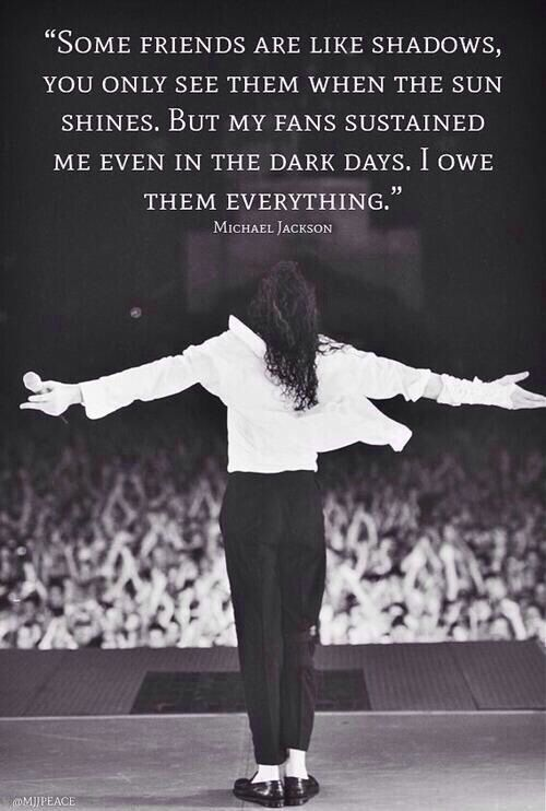 He loved his MJFam so much. And he knew perfectly well he could rely on us…