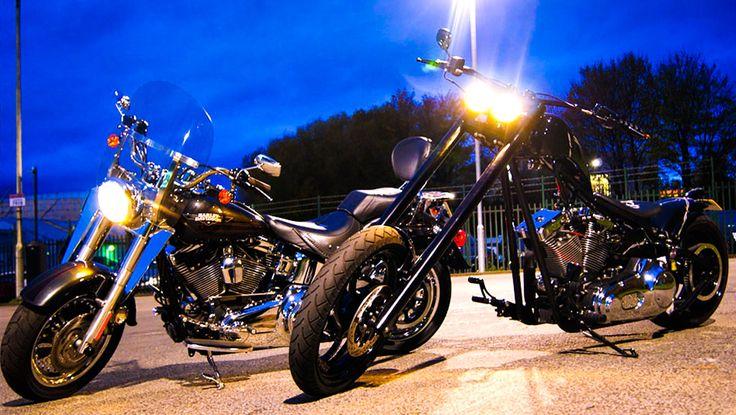 Harley-Davidson's at Stephen Billau & Sons Motorcycles.    http://100bikes.co.uk/motorbikes-for-sale/harley-davidson/