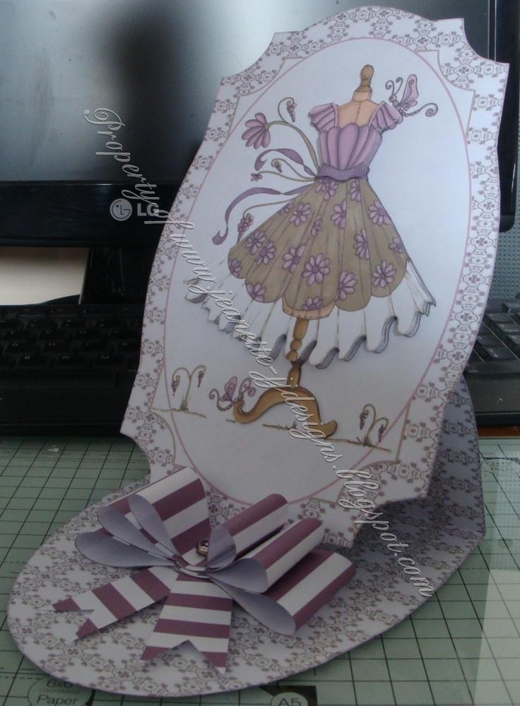 Easel Card Katy Sue Designs Fabulous Fashions