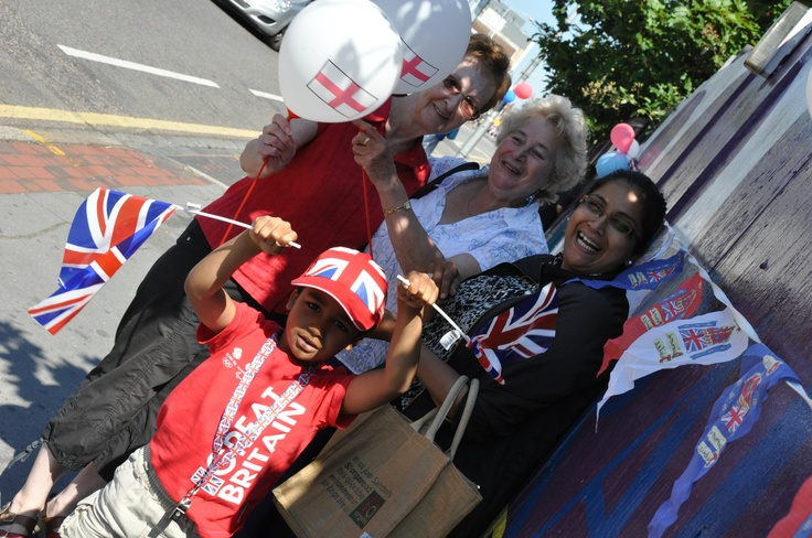 Sunny London brings smiles during the torch relay...