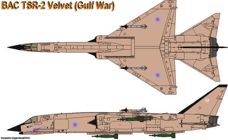 BAC TSR-2 Velvet (Gulf War) by CopperheadYSF23.deviantart.com on @deviantART