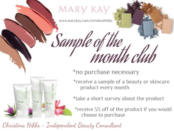 An opportunity to get FREE Mary Kay samples to your door every month! #MaryKay