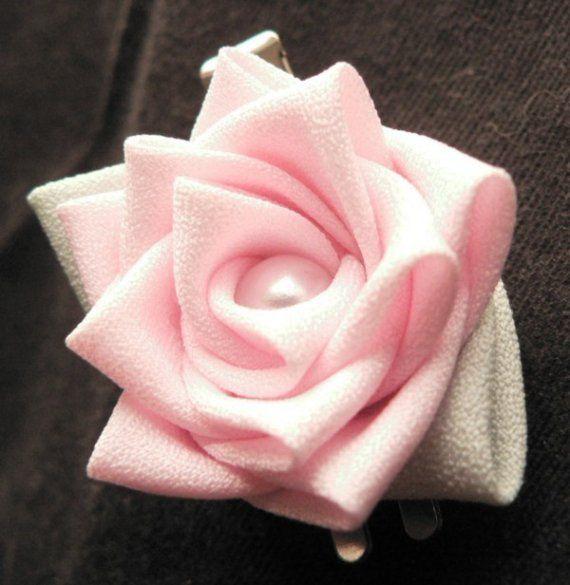 Mini Rose -- Fabric Flower Hair Clip