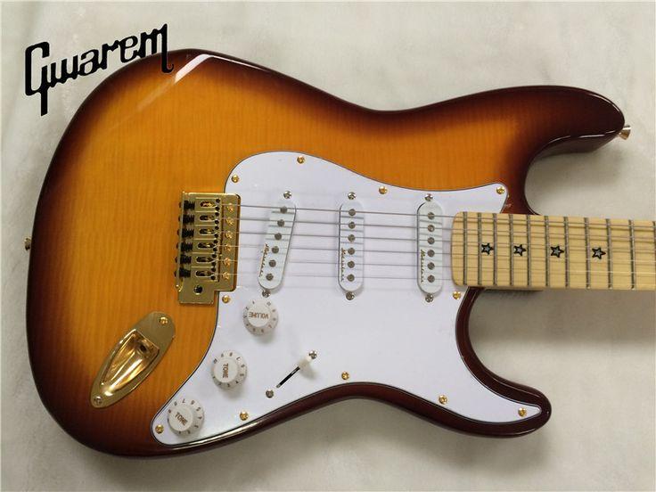 Electric guitar/Gwarem st maple flame top guitar/sunburst color/guitar in china #Affiliate